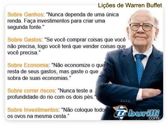 Lições de Warren Buffet: Um dos homens mais RICO do MUNDO!