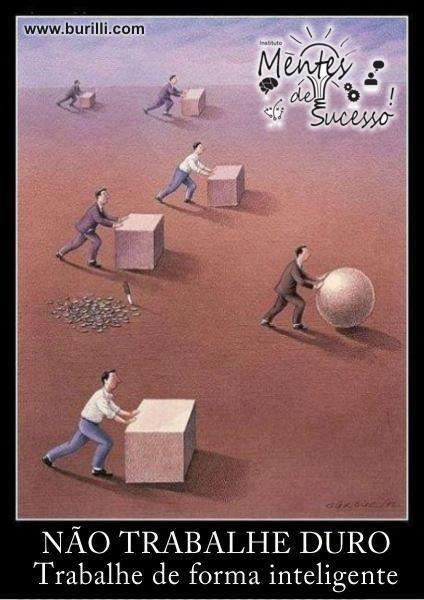 Não trabalhe duro. Trabalhe de forma inteligente
